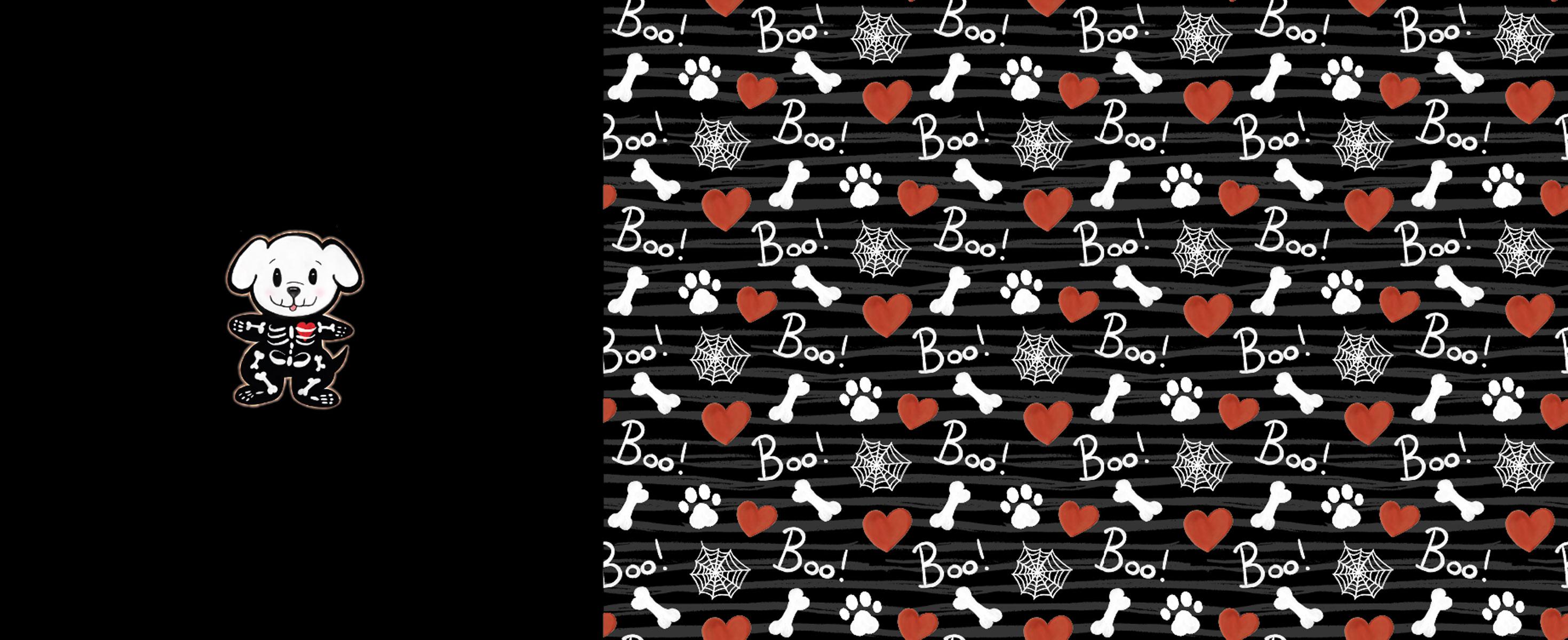 "Jersey Panel ""Halloween Hund"" Stückware"
