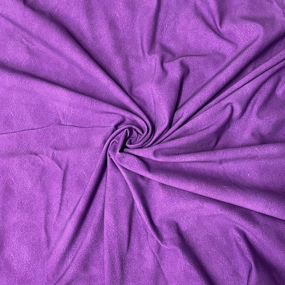 "Jersey Lederprint ""purple"" Meterware"