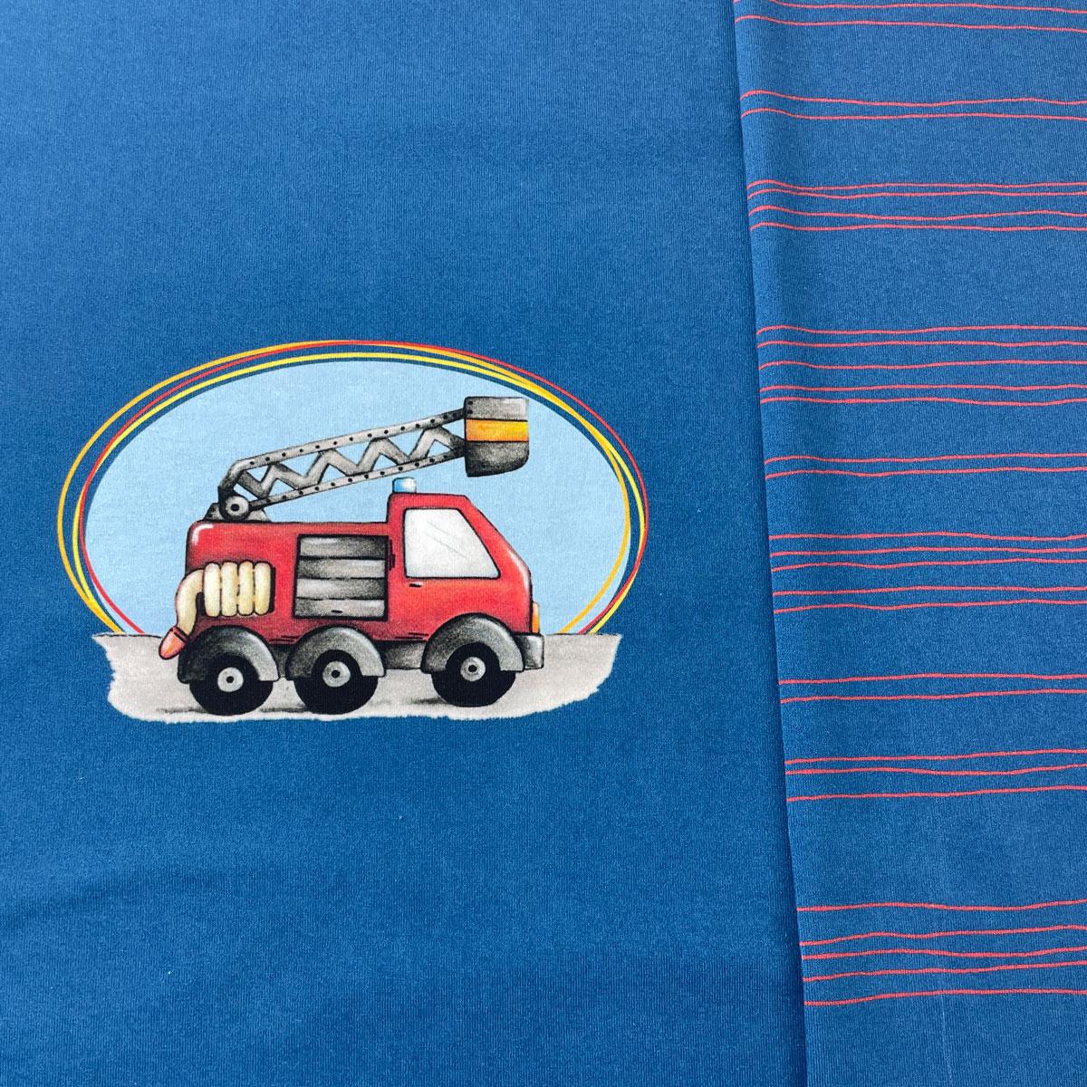 Jersey Panel Feuerwehr Stückware