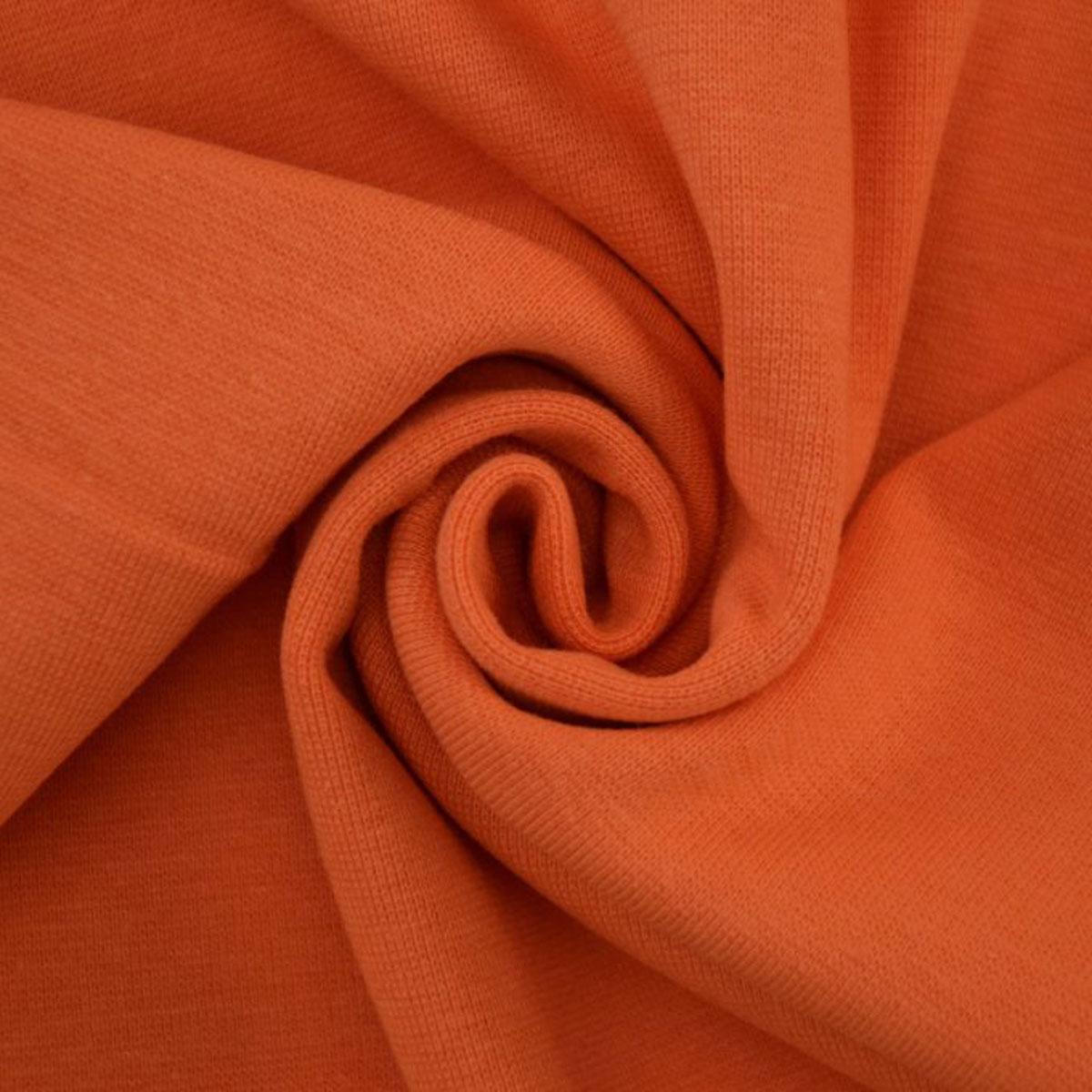 50cm Bündchen / Schlauchware glatt orange 5013
