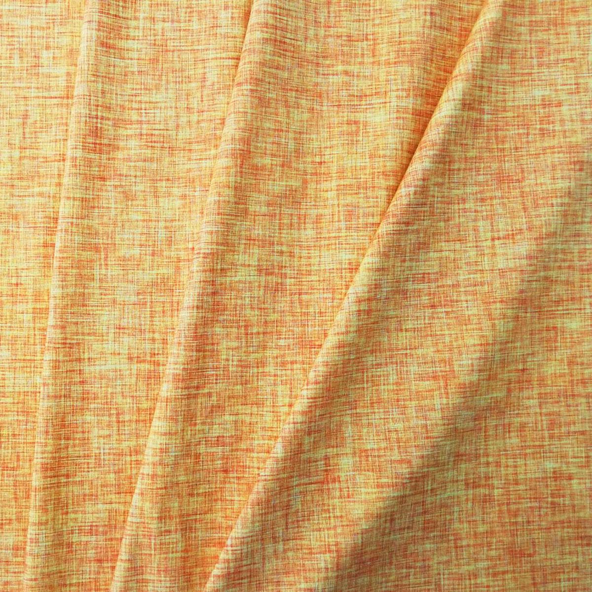 "Jersey Leinenprint ""orange"" Meterware"