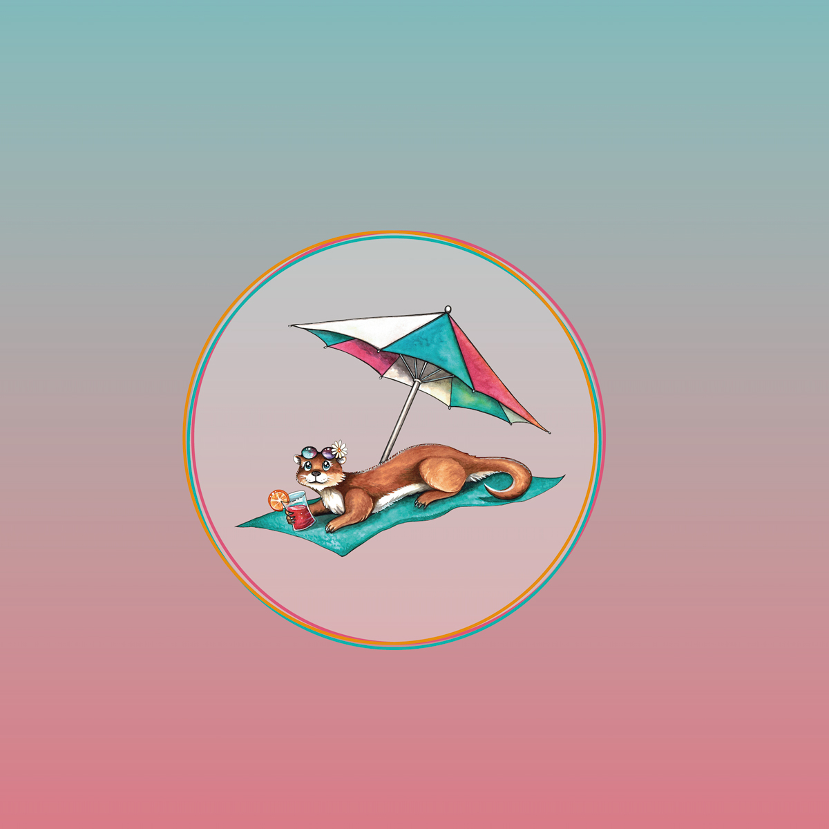 "Jersey Panel  Otter ""Strandschönheit"" Stückware"