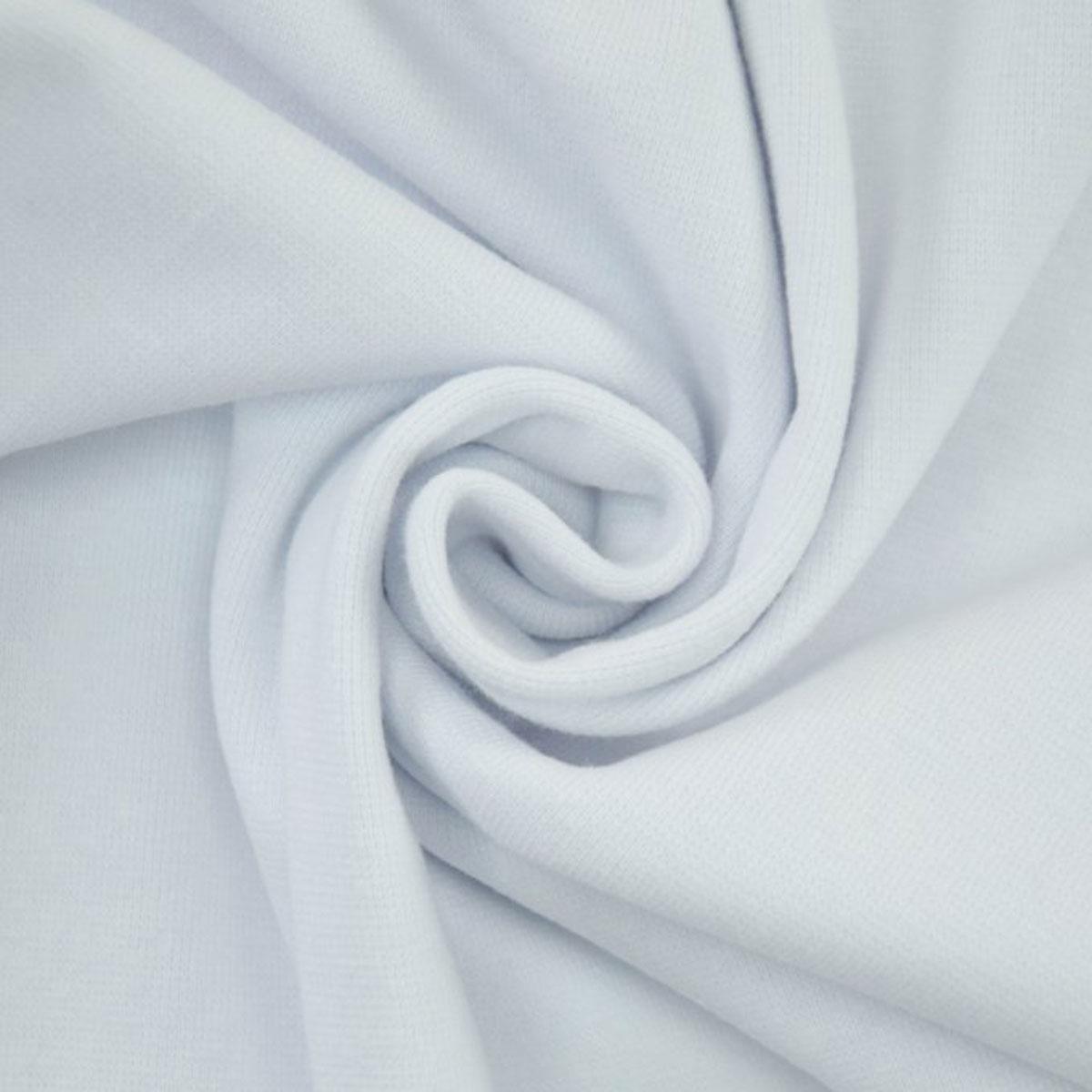 50cm Bündchen / Schlauchware glatt weiß 5003