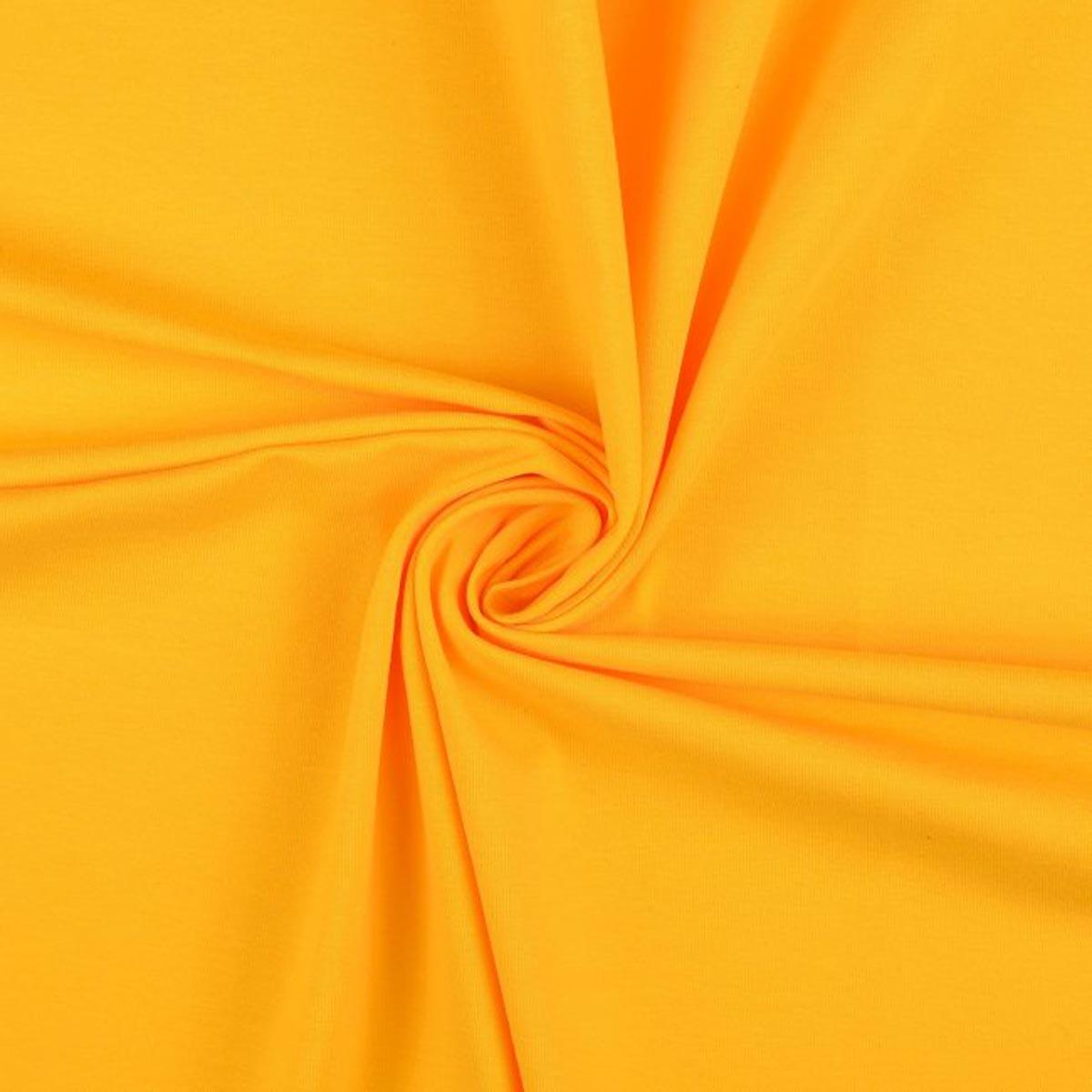 Baumwolljersey uni Meterware kräftig gelb 7011