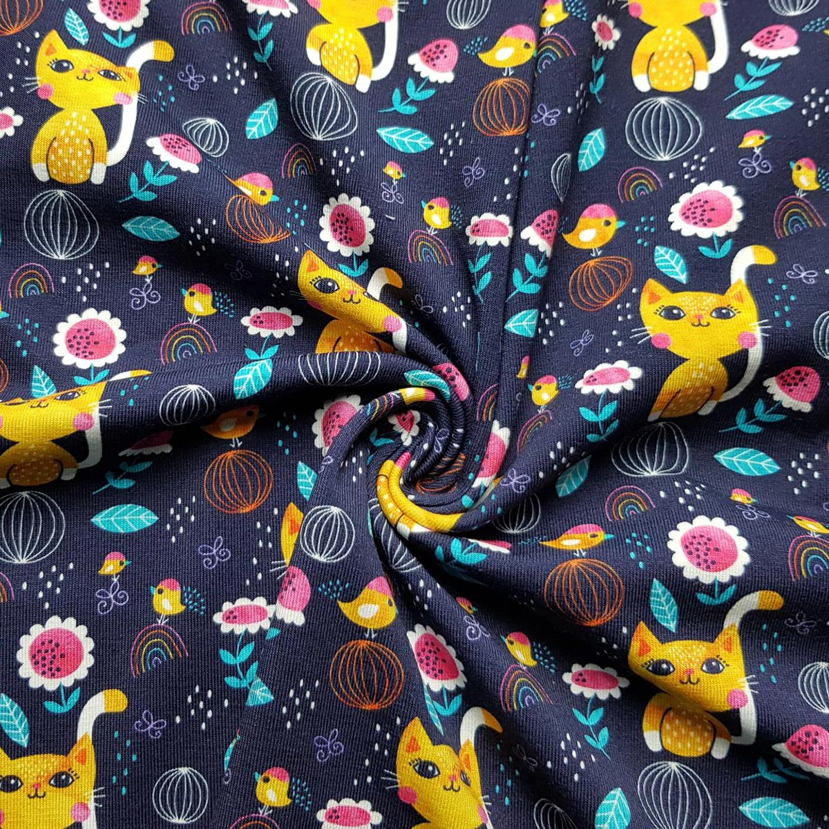 """Jersey all over Print """"Simply the cat"""" Meterware"""