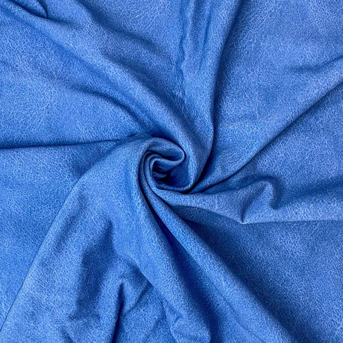 "Jersey Lederprint ""denim blue"" Meterware"