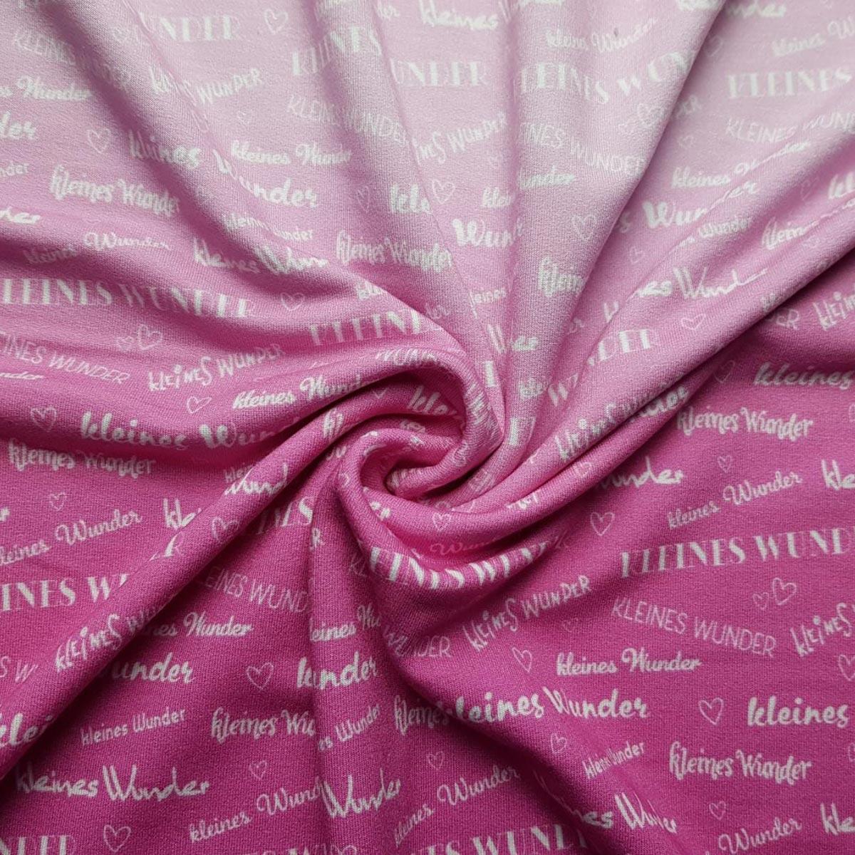 "Viskose Sommersweat ""kleines Wunder"" Farbverlauf pink Meterware"