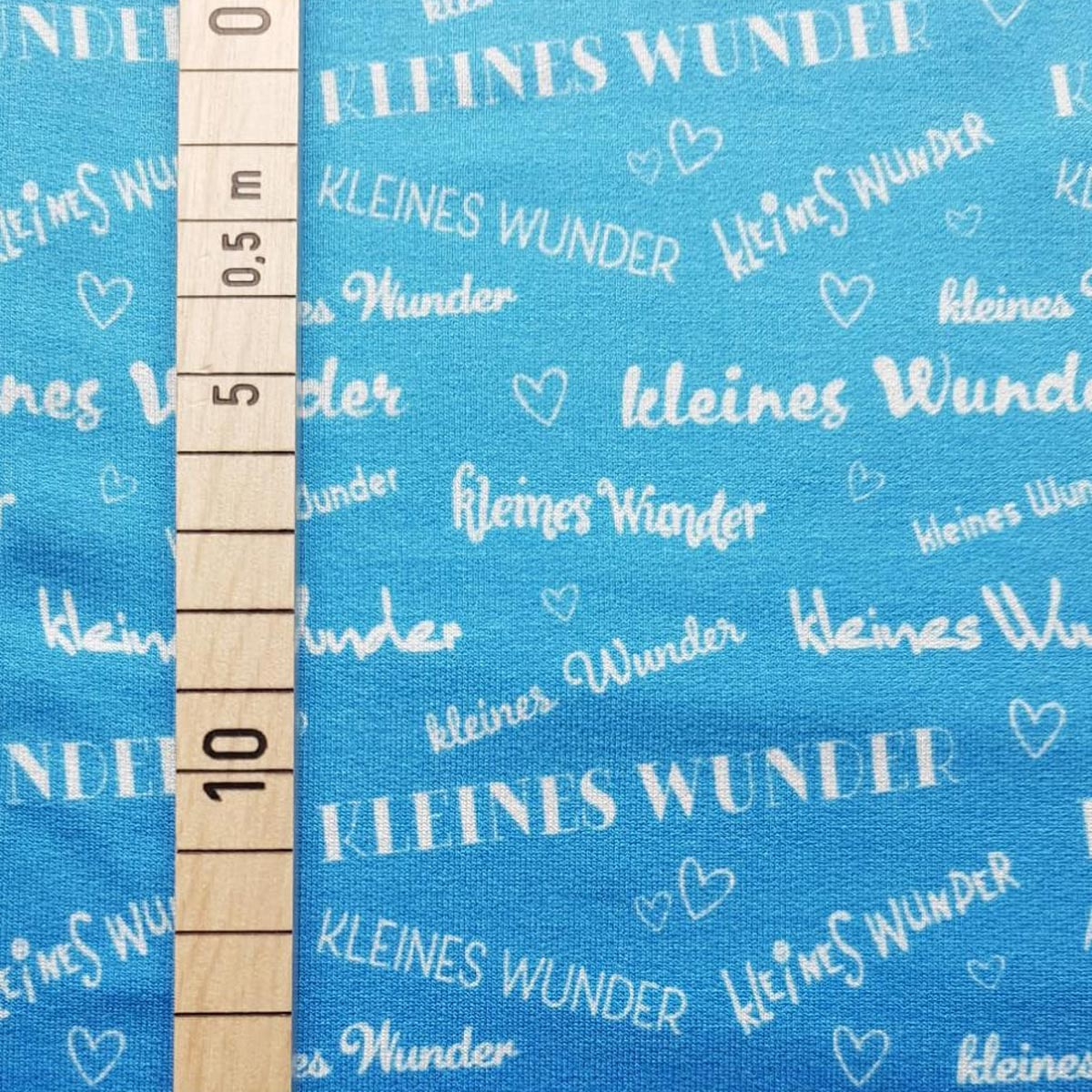 """Viskose Sommersweat """"kleines Wunder"""" Farbverlauf blau Meterware"""