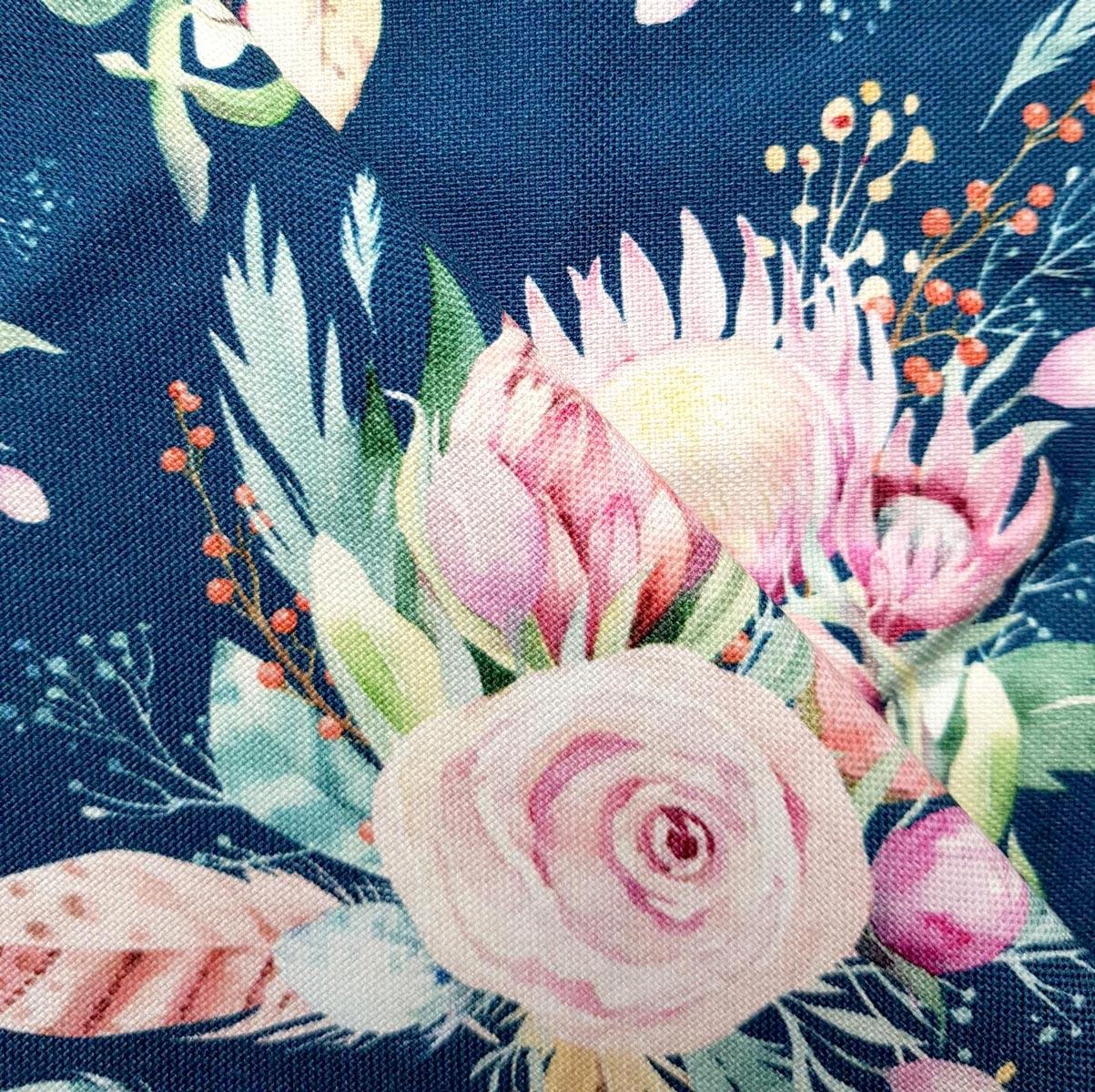 """Canvas """"Garden of Protea"""" pertrol Meterware"""