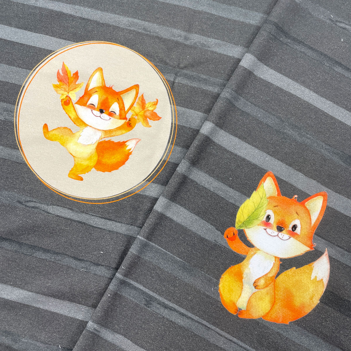 "Sommersweat Panel ""Fox & Pumpkin"" Stückware"