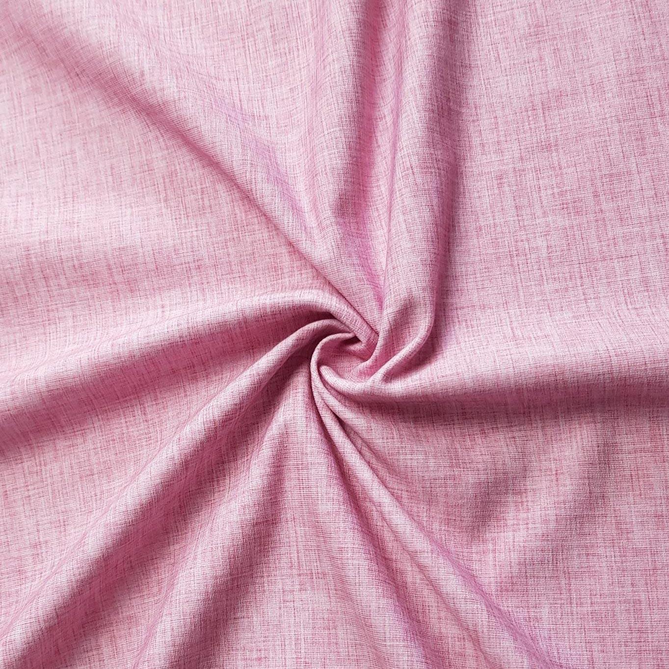 """Sommersweat Leinenprint """"rosa"""" Meterware"""