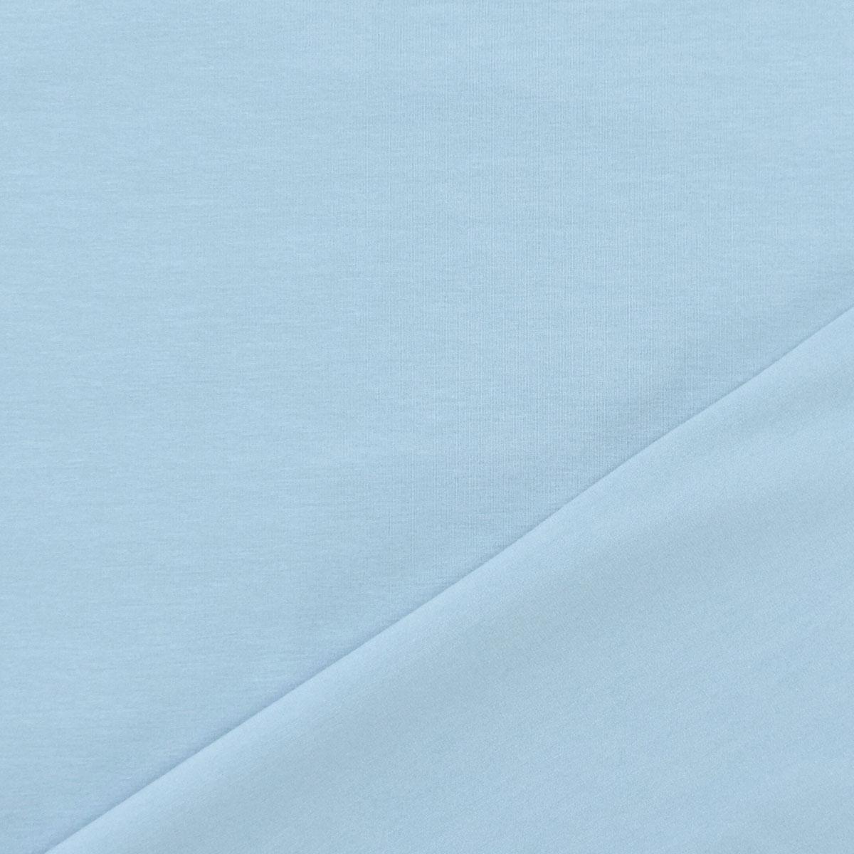 Baumwolljersey uni Meterware pastell blau 6029
