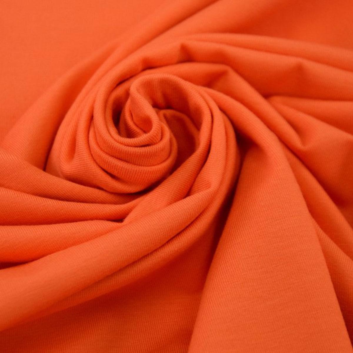 Baumwolljersey uni Meterware orange 5013