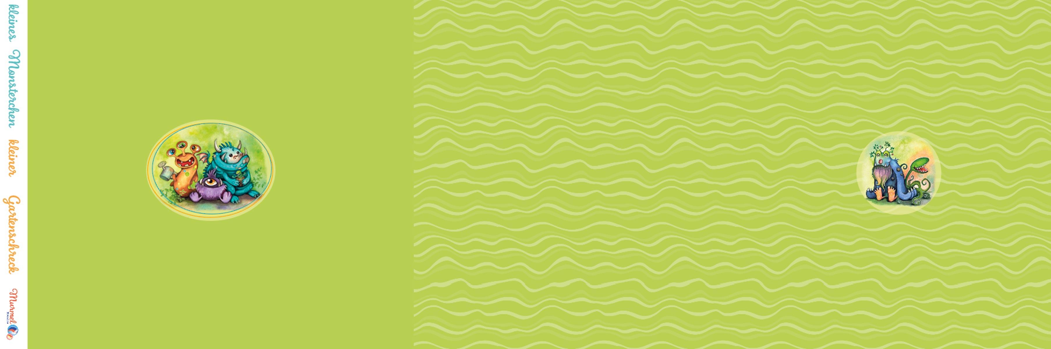 """Jersey Panel """"Gartenmonster"""" grün Stückware"""
