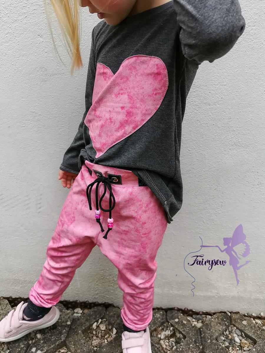 "Jersey Urban grunge ""rosa"" Meterware"