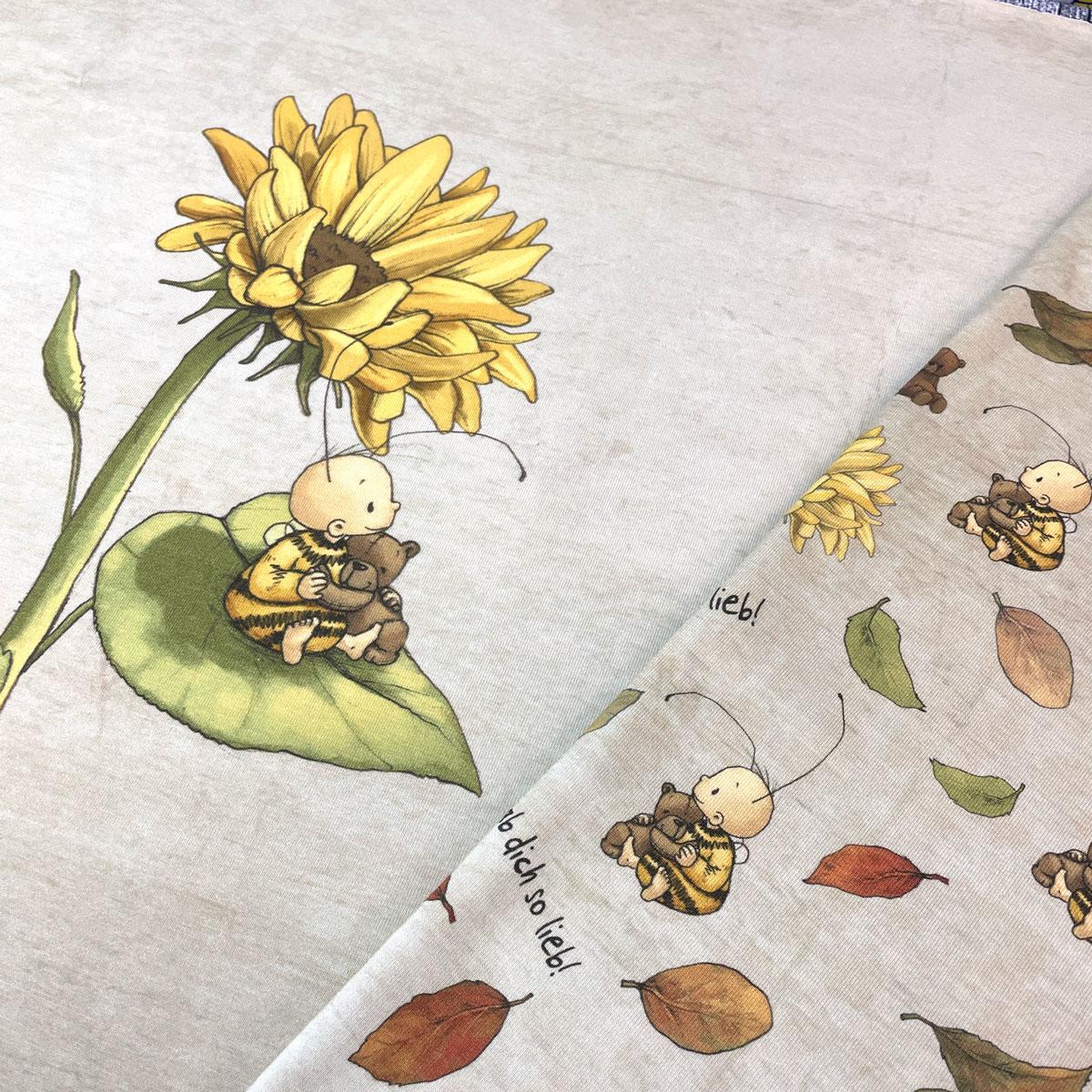 "Jersey Panel Hummel Bommel ""Sonnenblume"" Stückware"