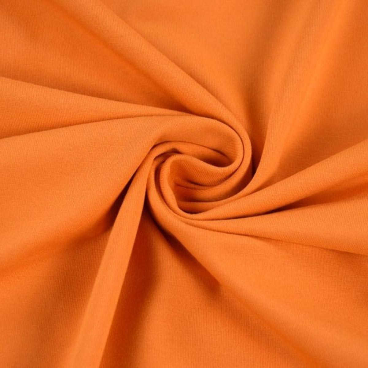 Baumwolljersey uni Meterware dunkel orange 5012