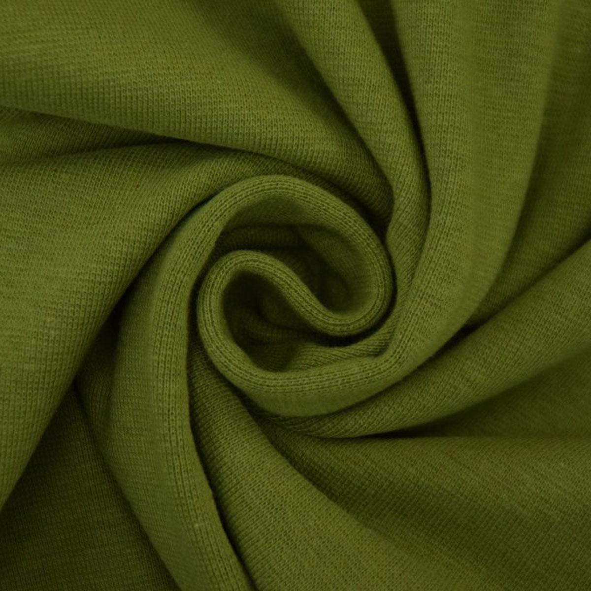 50cm Bündchen / Schlauchware glatt olivgrün 5032