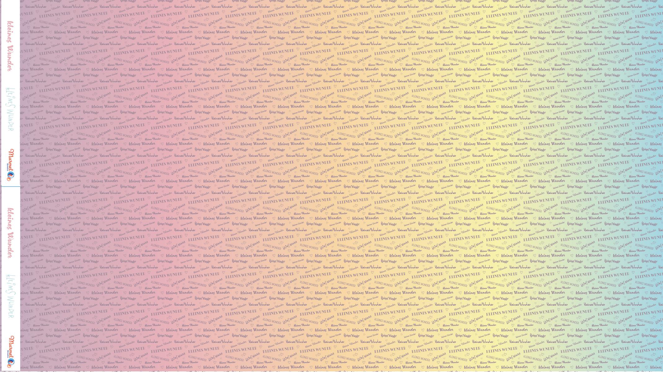 """Jersey """"kleines Wunder"""" Farbverlauf Pastell Meterware"""