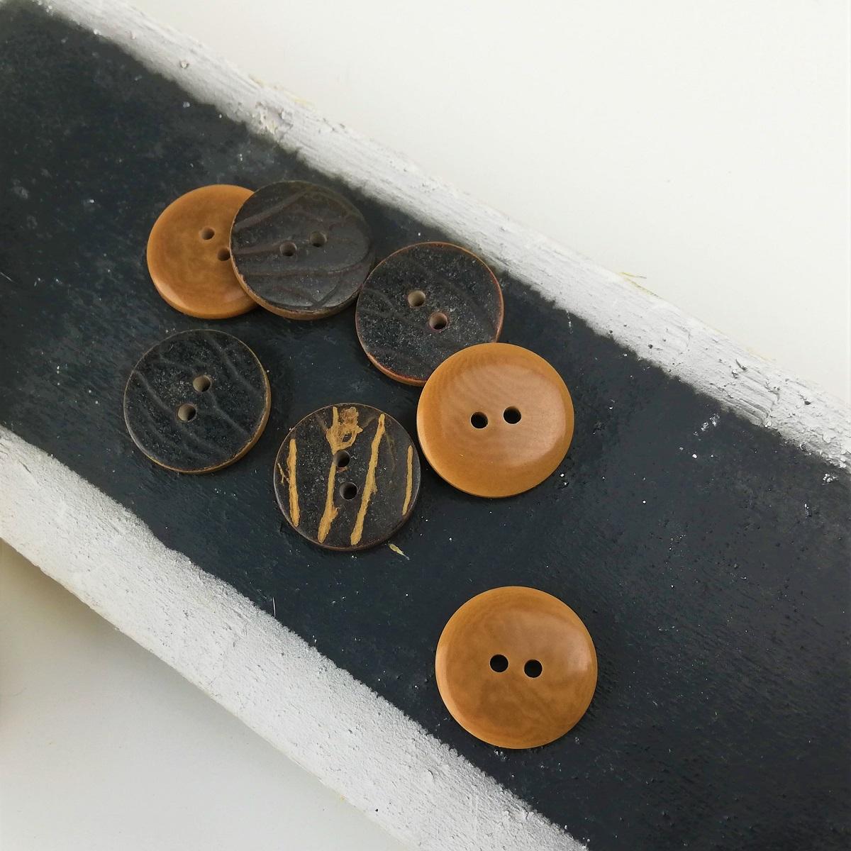 Holz-Knopf, rund, 2 cm