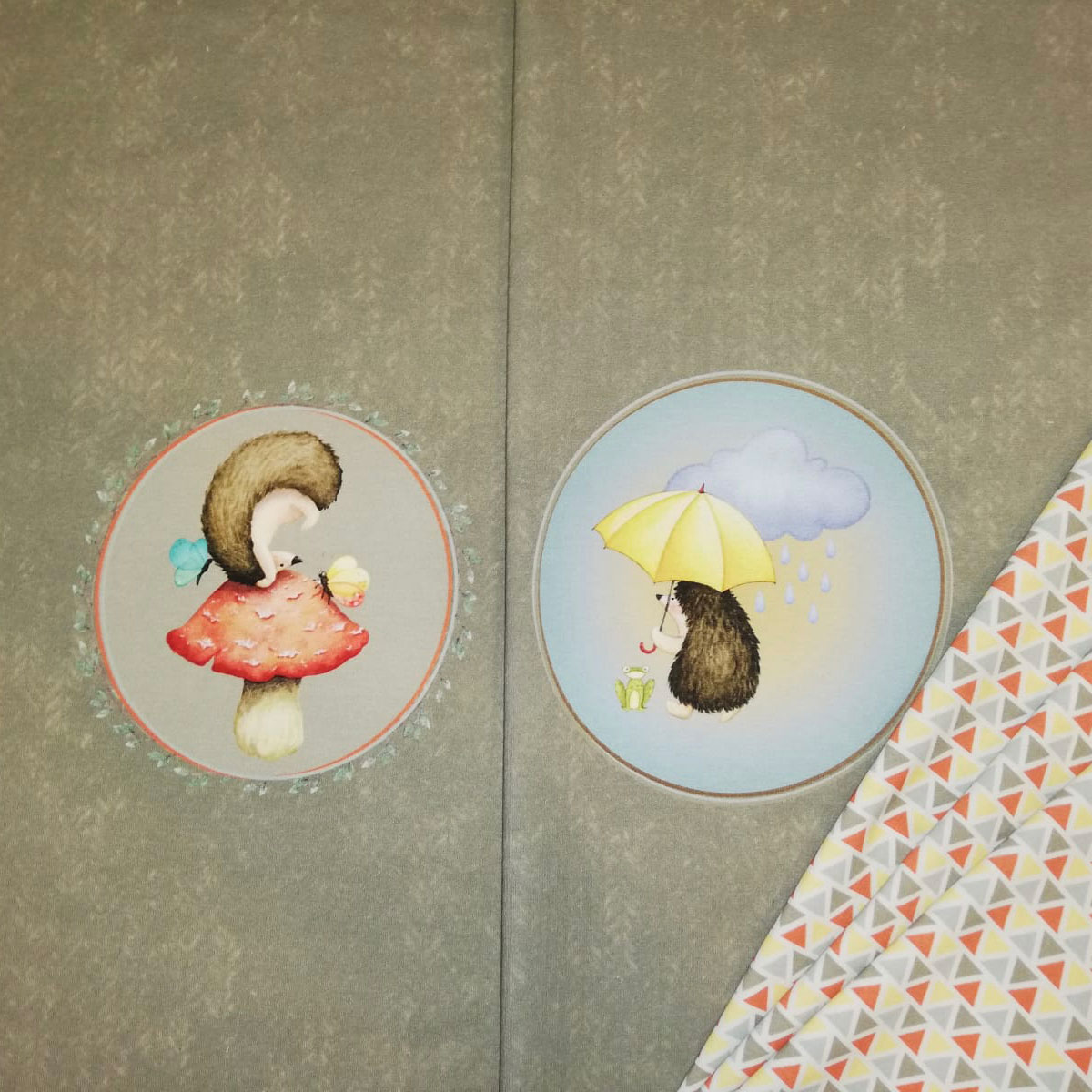 Sommersweat Panel Igel Stückware