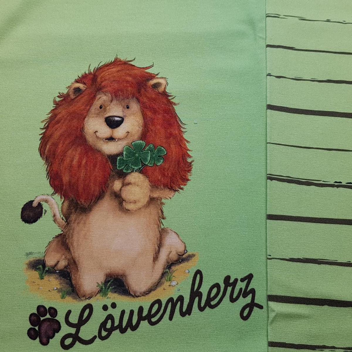 "Jersey Panel Löwe ""Löwenherz"" Stückware"