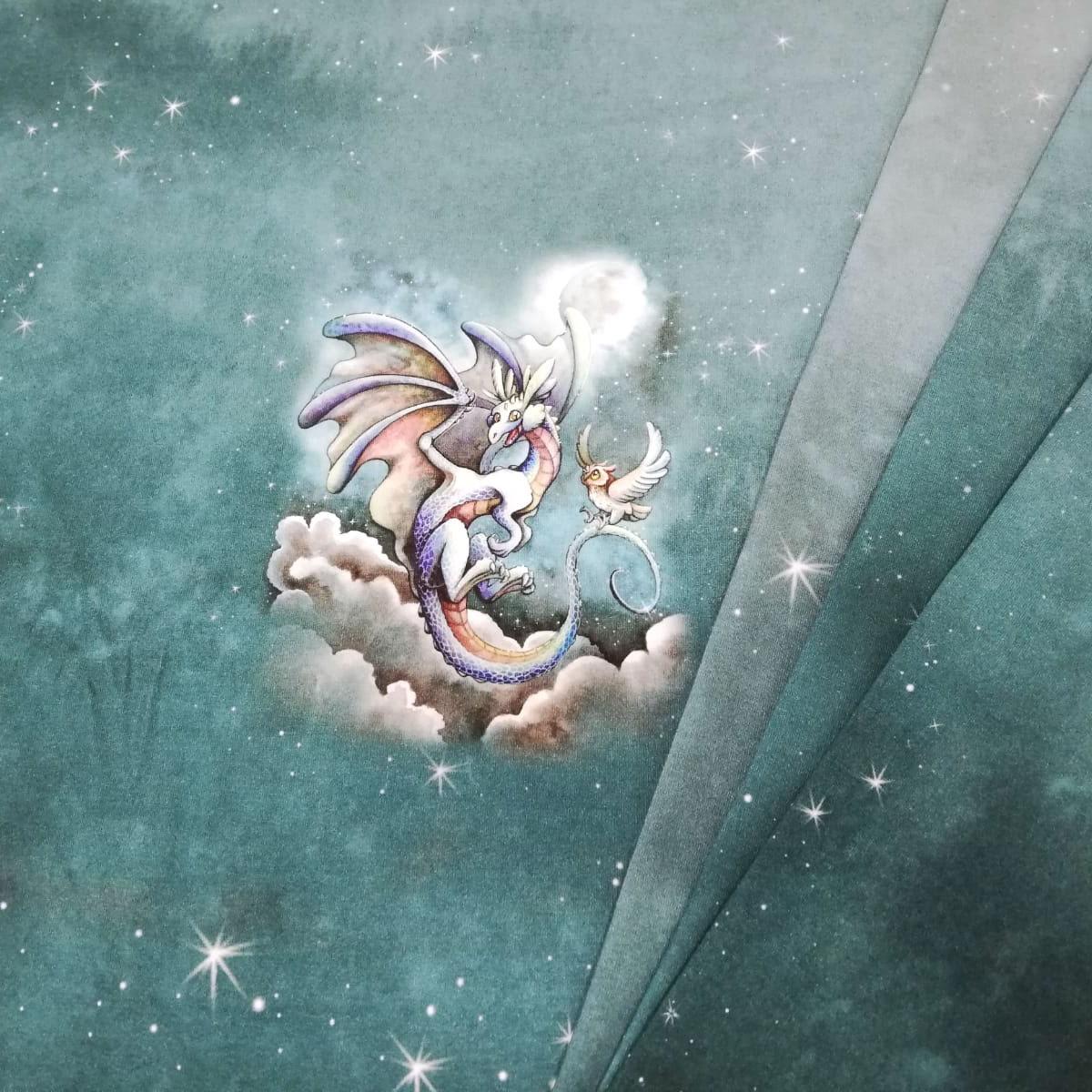 "Jersey Panel ""Moonlight Dragon"" Stückware"