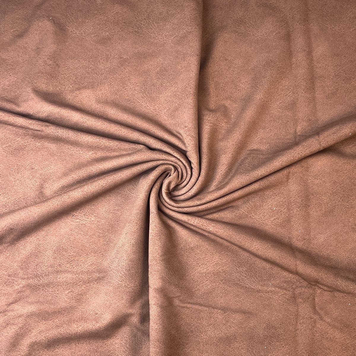 "Jersey Lederprint ""chocolate brown"" Meterware"