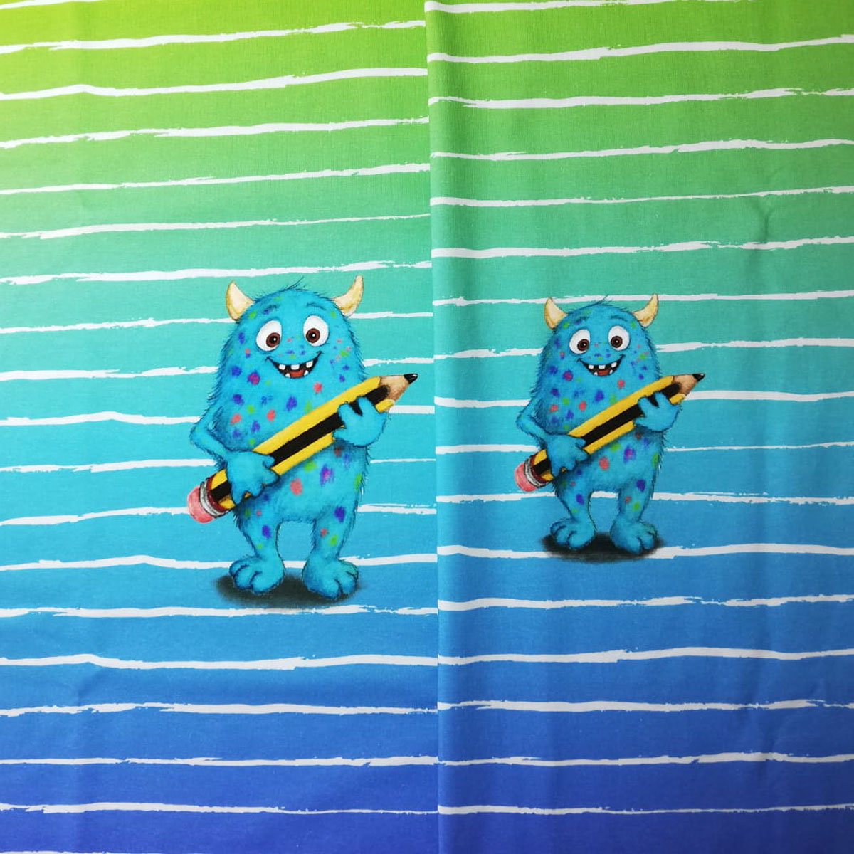 "Jersey Panel Monster ""Hallo Schule/KiTa"" Jungs Stückware"