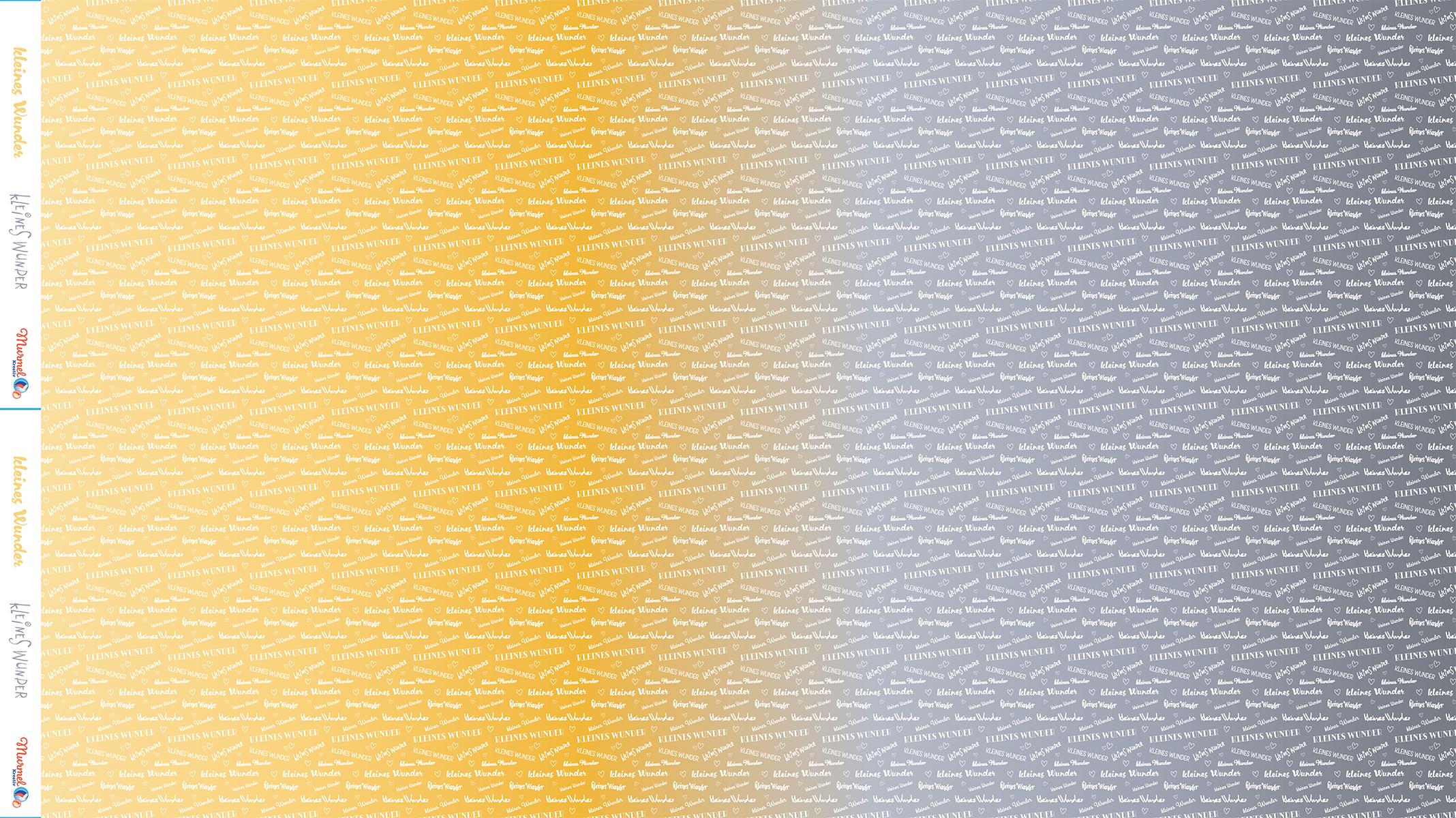 """Viscose Sommersweat  """"kleines Wunder"""" yellow & grey Meterware"""